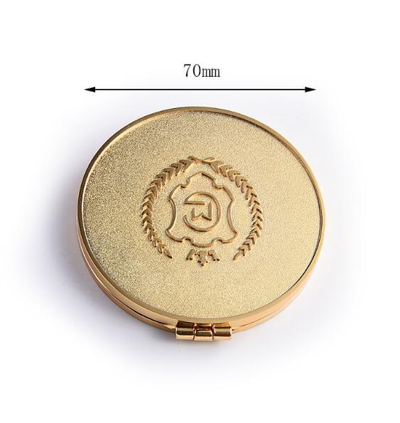 圆形锌合金品牌礼品化妆镜定制工厂