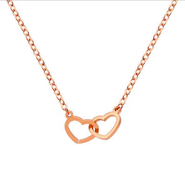 玫瑰金项链,定制礼品项链 (2)