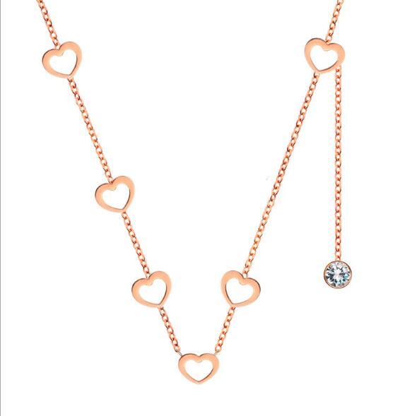 玫瑰金项链,定制礼品项链 (3)